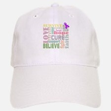 Alzheimer's Inspirational Words Baseball Baseball Cap