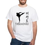 Taekwondo Mens White T-shirts