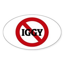 Anti-Iggy Oval Decal
