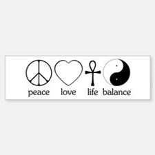 Peace Love Life Balance Bumper Bumper Sticker