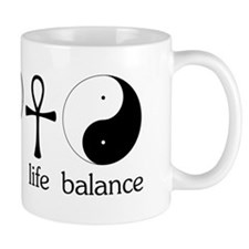Peace Love Life Balance Small Mug