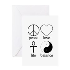 Peace Love Life Balance Greeting Card