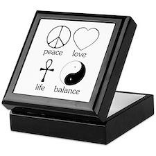 Peace Love Life Balance Keepsake Box