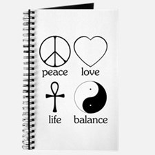 Peace Love Life Balance Journal