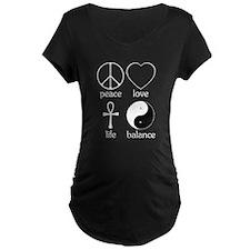 Peace Love Life Balance T-Shirt
