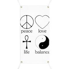 Peace Love Life Balance Banner