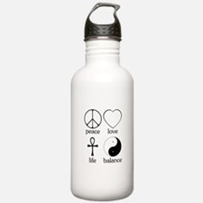 Peace Love Life Balance Water Bottle