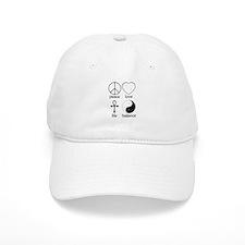 Peace Love Life Balance Baseball Cap