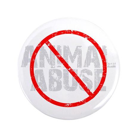 "No Animal Abuse 3.5"" Button"