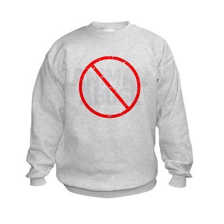 No Animal Abuse Kids Sweatshirt