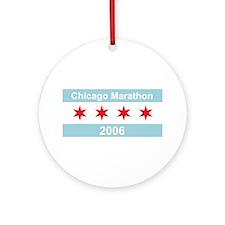 2006 Chicago Marathon Ornament (Round)