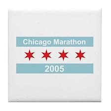 2005 Chicago Marathon Tile Coaster