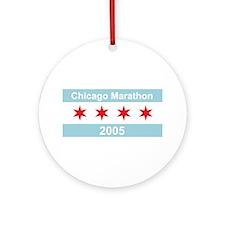 2005 Chicago Marathon Ornament (Round)