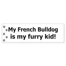 French Bulldog Furry Kid Bumper Bumper Sticker