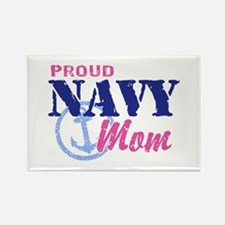 Proud Navy Mom Rectangle Magnet