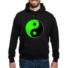 Green-Black Yin Yang Hoody
