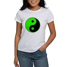 Green-Black Yin Yang Tee
