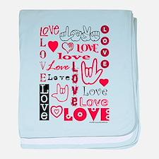Love WordsHearts Infant Blanket