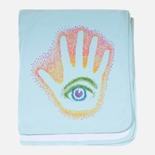 Rainbow Petro EyeHand Infant Blanket