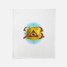 Illuminati Golden Apple Throw Blanket
