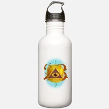 Illuminati Golden Apple Water Bottle