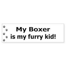Boxer Furry Kid Bumper Bumper Sticker