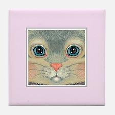 Spring Color Mug on Pink Tile Coaster