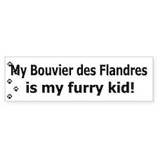Bouvier des Flandres Furry Kid Bumper Bumper Sticker