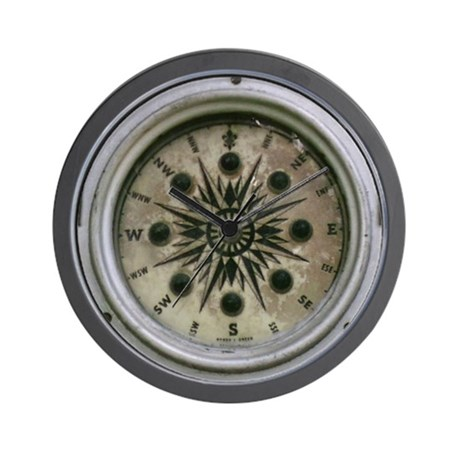 Compass Style Wall Clock