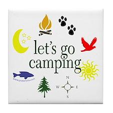 Let's go camping! Tile Coaster