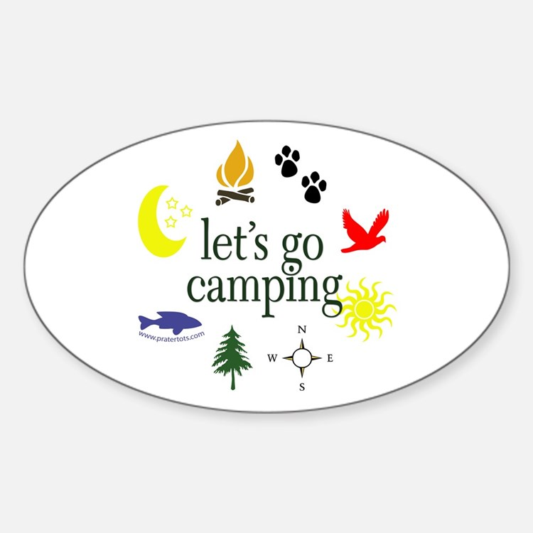 Let's go camping! Oval Decal