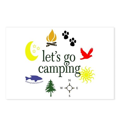 Let's go camping! Postcards (Package of 8)