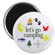 Let's go camping! Magnet