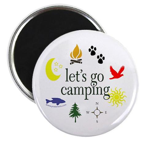 "Let's go camping! 2.25"" Magnet (10 pack)"