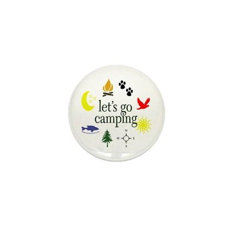 Let's go camping! Mini Button (10 pack)