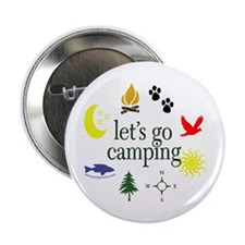 """Let's go camping! 2.25"""" Button (100 pack)"""