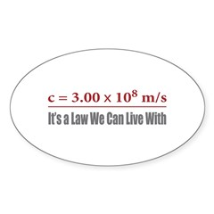 Speed of Light Oval Decal