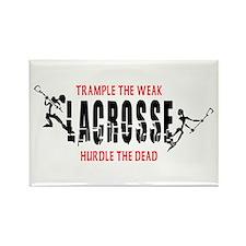 Trample The Weak Lacrosse Rectangle Magnet