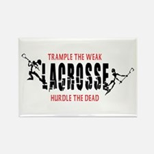 Trample The Weak Lacrosse Rectangle Magnet