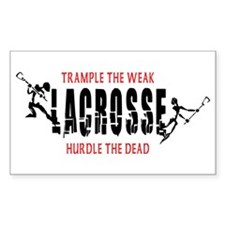 Trample The Weak Lacrosse Rectangle Decal