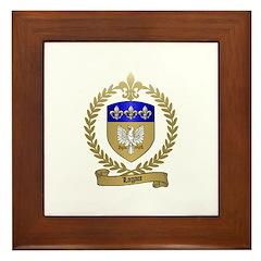 LAGACE Family Crest Framed Tile