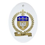 LAGACE Family Crest Oval Ornament