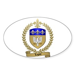 LAGACE Family Crest Oval Decal