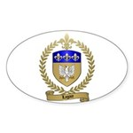 LAGACE Family Crest Oval Sticker