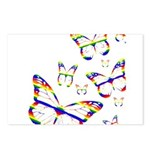 Rainbow Butterfly Postcards (8)