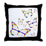 Rainbow Butterfly Pillow
