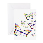 Rainbow Butterfly Greeting Cards (Pk of 10)