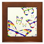 Rainbow Butterfly Framed Tile