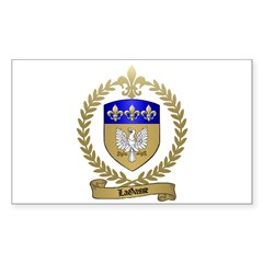 LAGASSE Family Crest Rectangle Decal