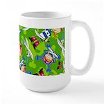 Adorably Cute Bandana Pirate Girl Large Coffee Mug